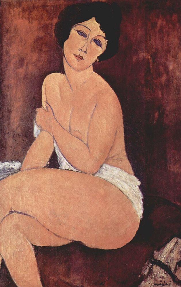 konfigurieren des Kunstdrucks in Wunschgröße Seated girl nude von Modigliani, Amedeo