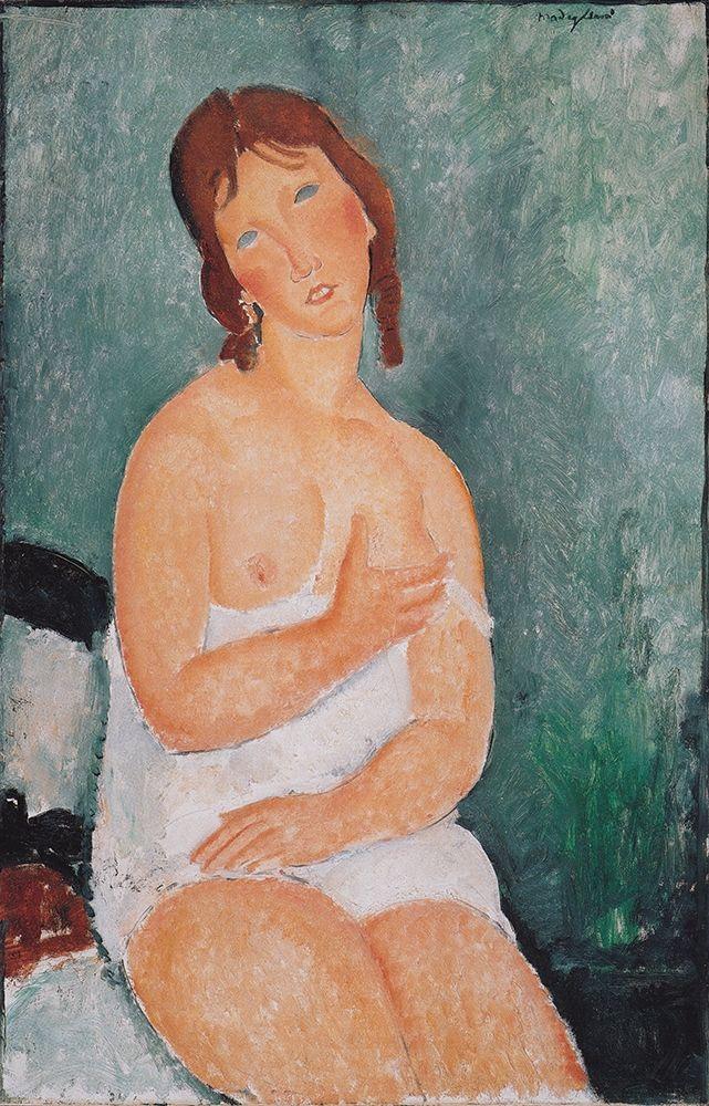 konfigurieren des Kunstdrucks in Wunschgröße Junge Frau im Hemd von Modigliani, Amedeo