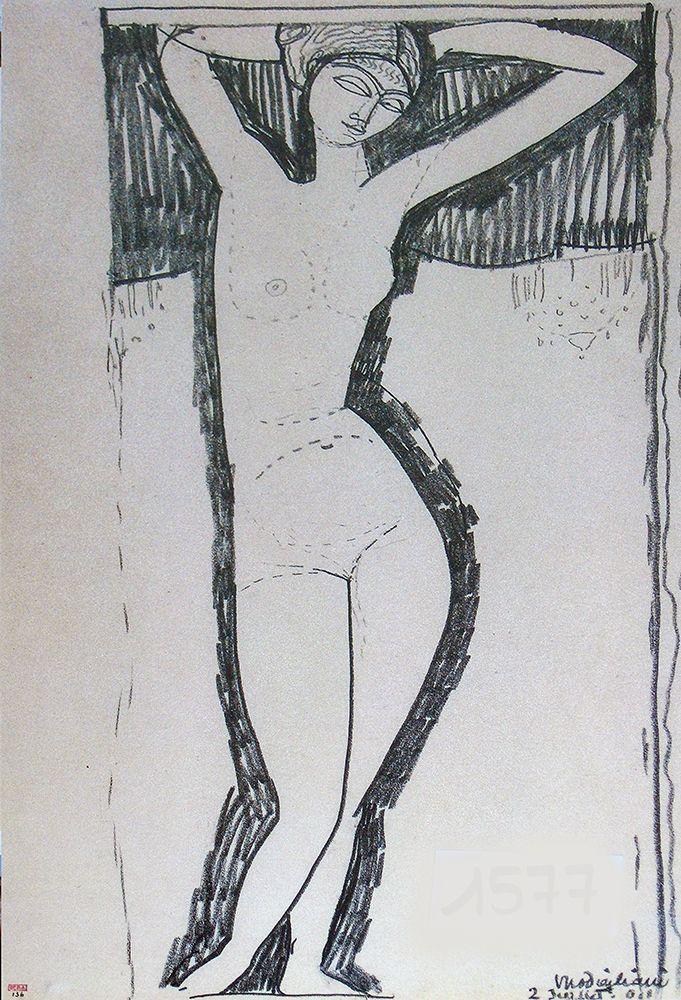 konfigurieren des Kunstdrucks in Wunschgröße Nude von Modigliani, Amedeo