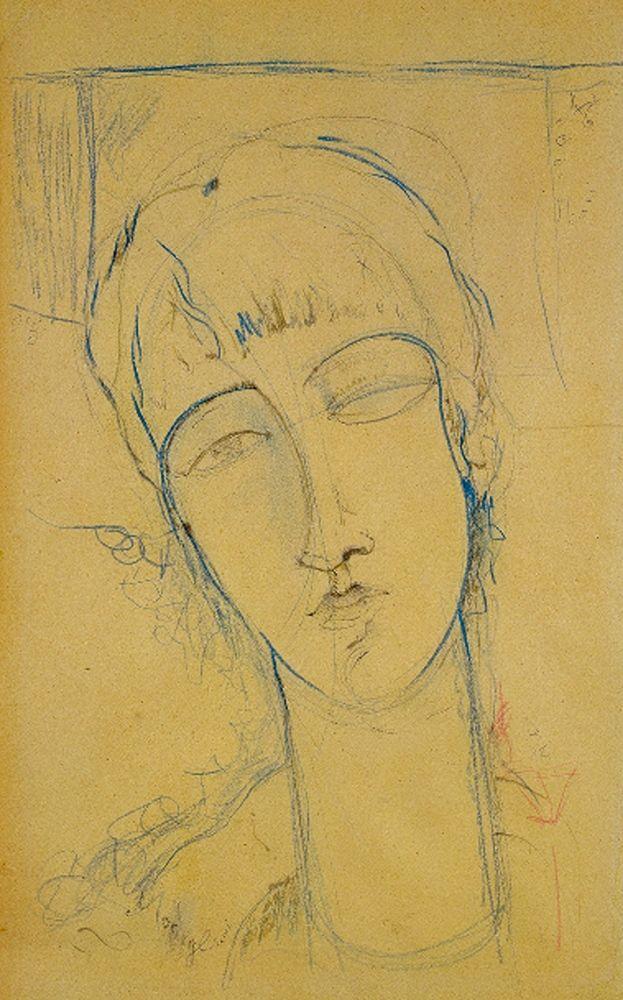 konfigurieren des Kunstdrucks in Wunschgröße Ritratto di Donna Rossa von Modigliani, Amedeo