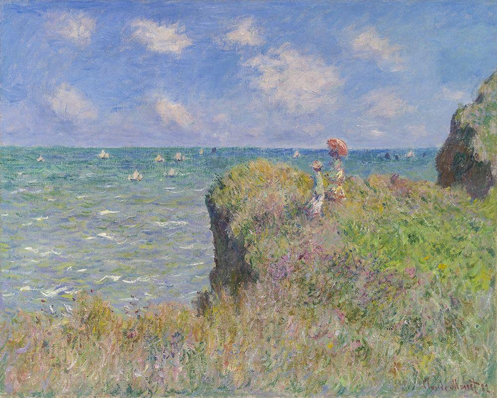 konfigurieren des Kunstdrucks in Wunschgröße Cliff Walk at Pourville von Monet, Claude
