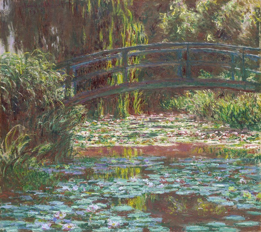 konfigurieren des Kunstdrucks in Wunschgröße Water Lily Pond von Monet, Claude