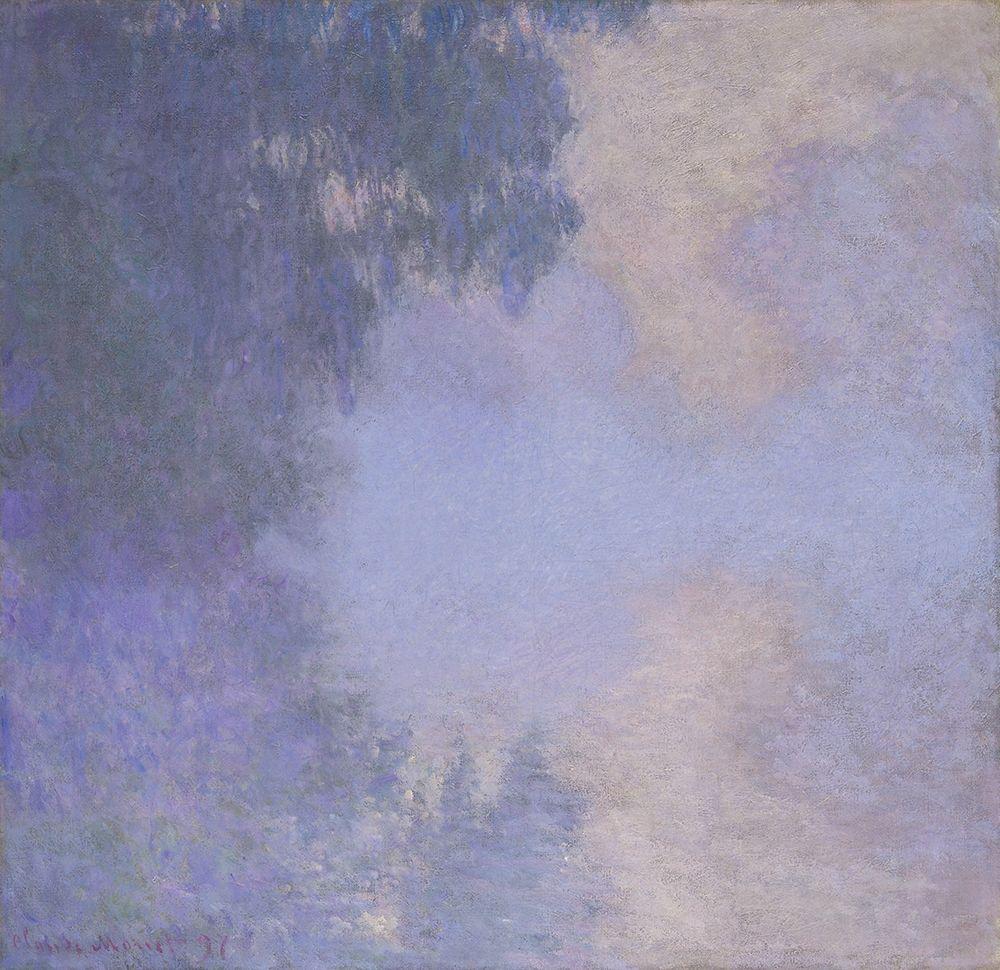 konfigurieren des Kunstdrucks in Wunschgröße Branch of the Seine near Giverny (Mist) von Monet, Claude