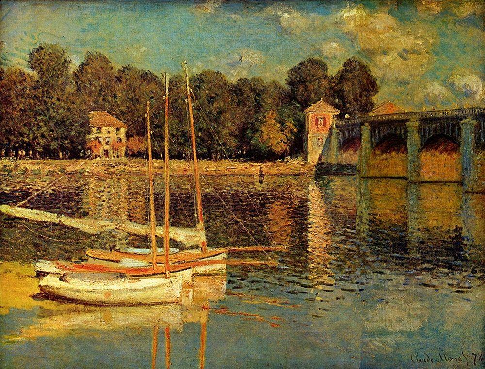 konfigurieren des Kunstdrucks in Wunschgröße Bridge in Argenteuil von Monet, Claude