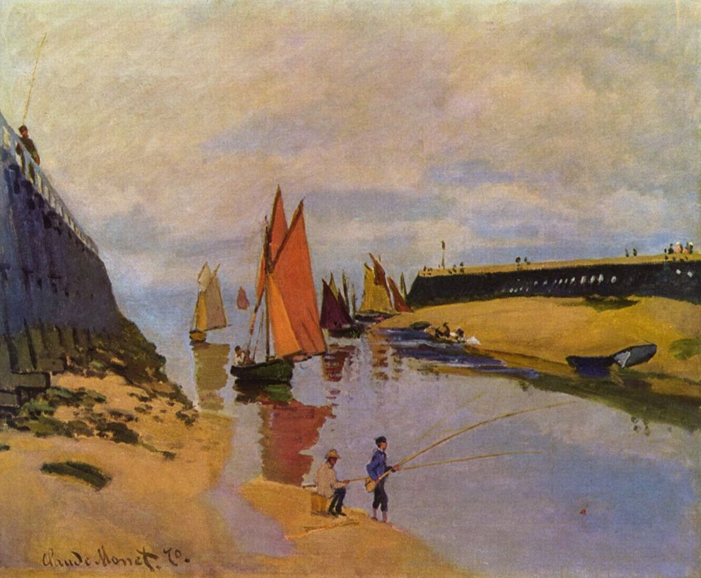 konfigurieren des Kunstdrucks in Wunschgröße Port of Trouville von Monet, Claude