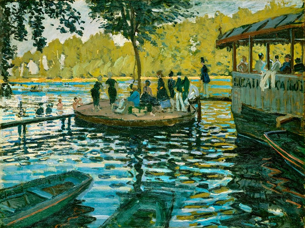 konfigurieren des Kunstdrucks in Wunschgröße La Grenouill├®re von Monet, Claude