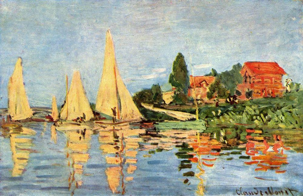 konfigurieren des Kunstdrucks in Wunschgröße Regatta in Argenteuil von Monet, Claude