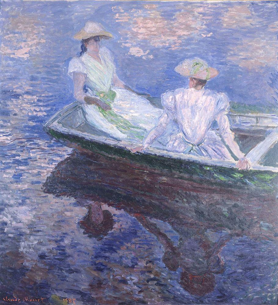konfigurieren des Kunstdrucks in Wunschgröße On the Boat von Monet, Claude