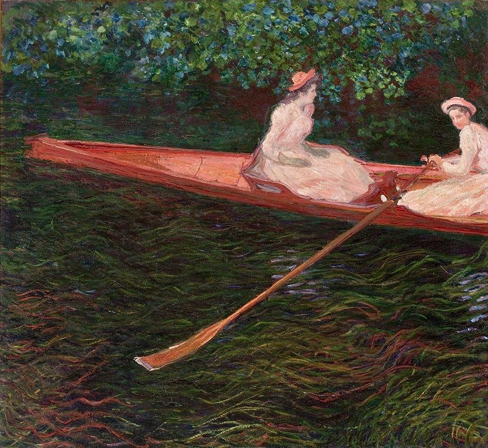 konfigurieren des Kunstdrucks in Wunschgröße Canoe von Monet, Claude