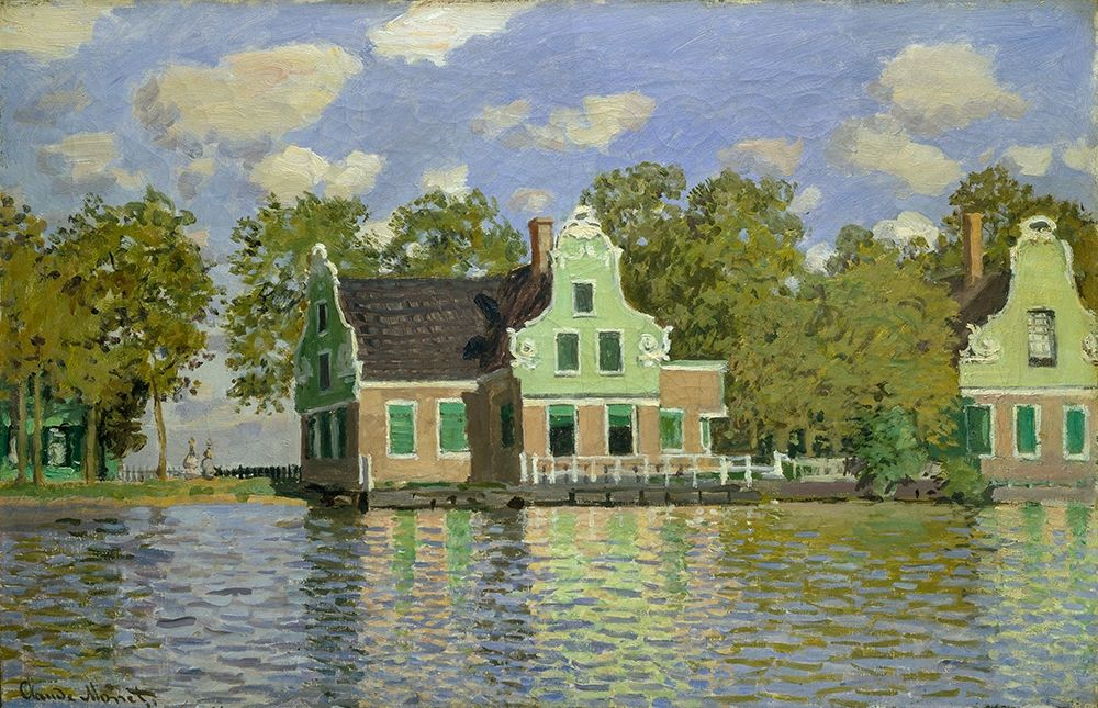 konfigurieren des Kunstdrucks in Wunschgröße The House on the River Zaan in Zaandam von Monet, Claude