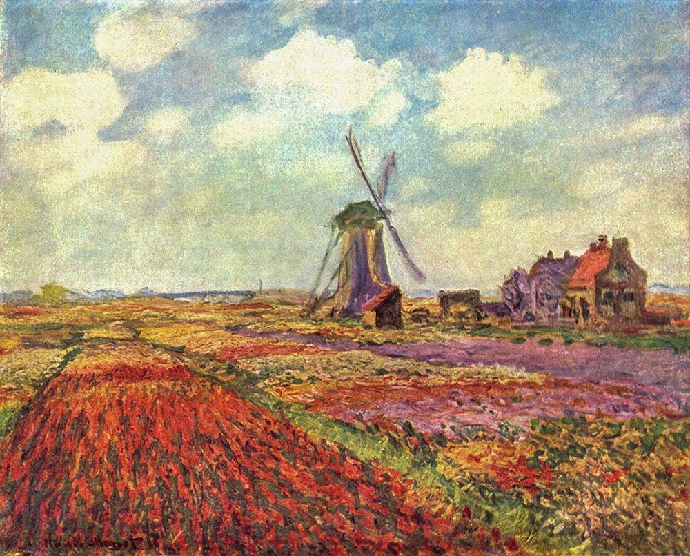 konfigurieren des Kunstdrucks in Wunschgröße Tulip Field von Monet, Claude