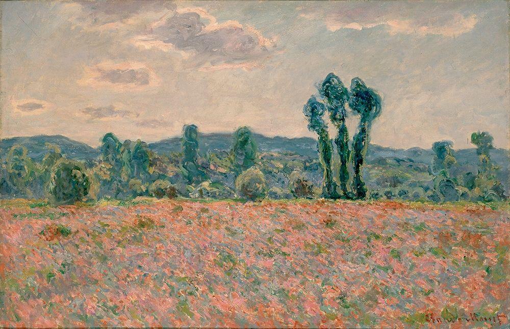konfigurieren des Kunstdrucks in Wunschgröße Poppy Field von Monet, Claude