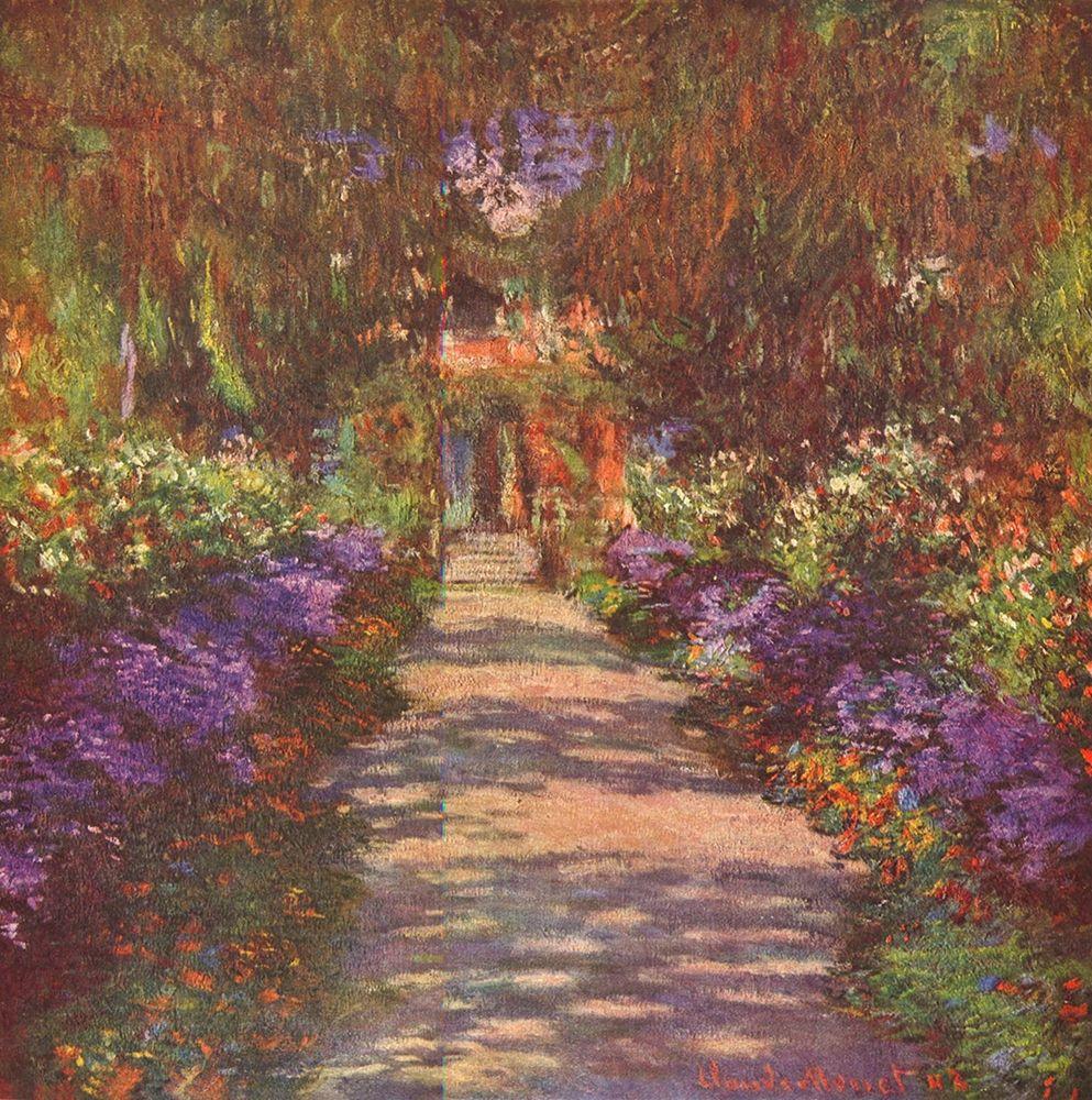konfigurieren des Kunstdrucks in Wunschgröße Garden way von Monet, Claude