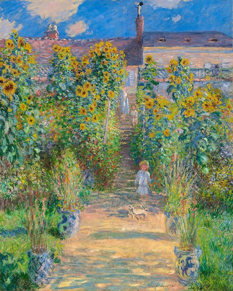 konfigurieren des Kunstdrucks in Wunschgröße Garden of the artist at Vetheuil von Monet, Claude