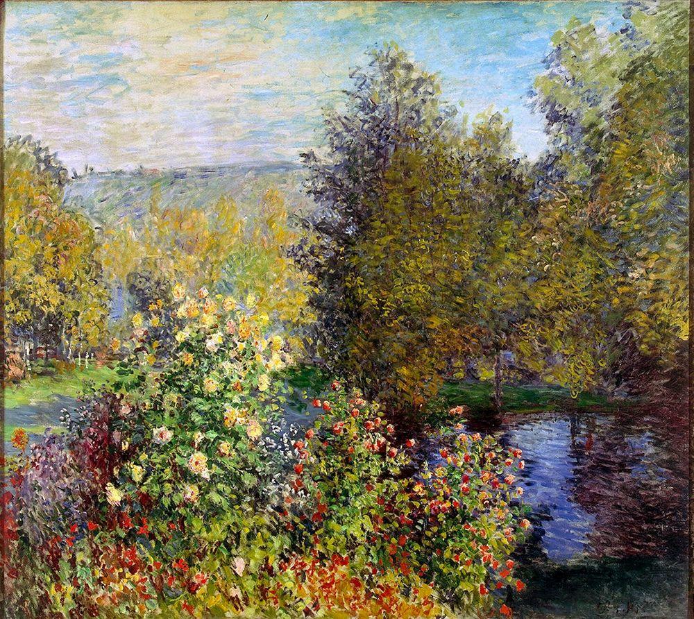 konfigurieren des Kunstdrucks in Wunschgröße Corner of the Garden at Montgeron von Monet, Claude