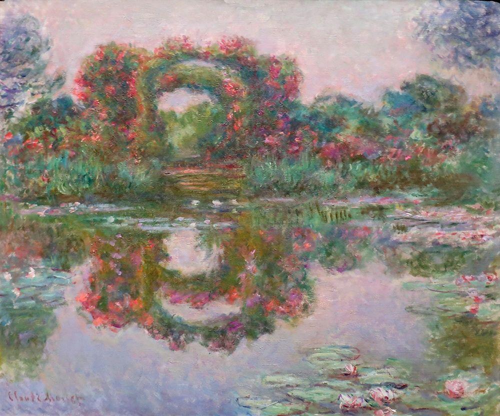 konfigurieren des Kunstdrucks in Wunschgröße Flowering Arches, Giverny von Monet, Claude