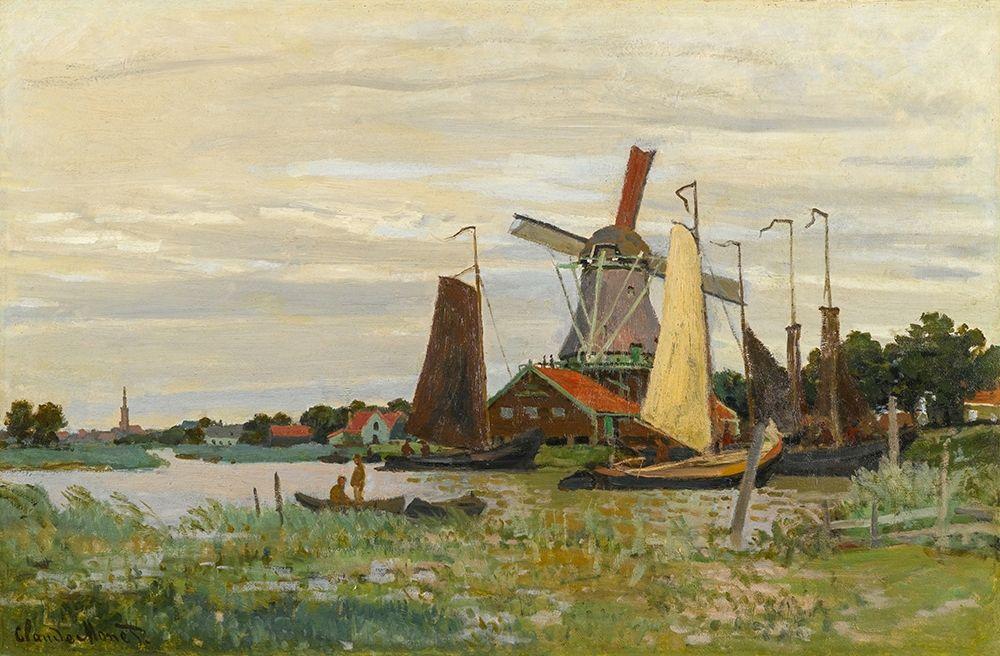 konfigurieren des Kunstdrucks in Wunschgröße Un Moulin ├á Zaandam von Monet, Claude