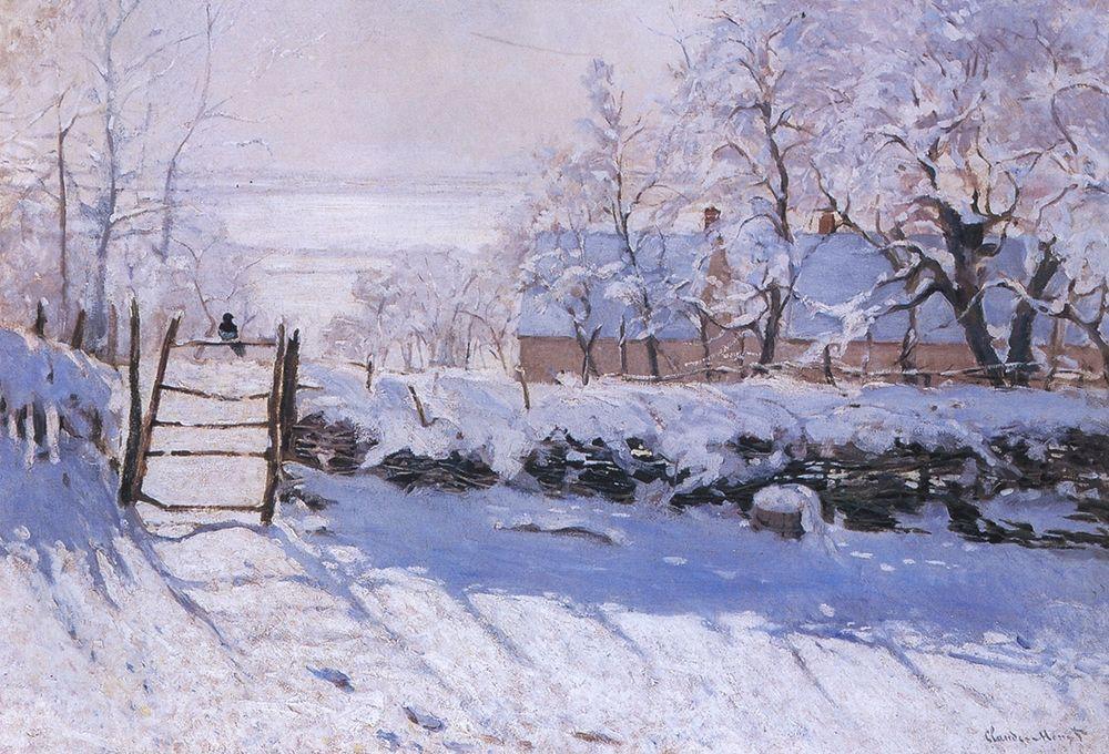 konfigurieren des Kunstdrucks in Wunschgröße The magpie von Monet, Claude