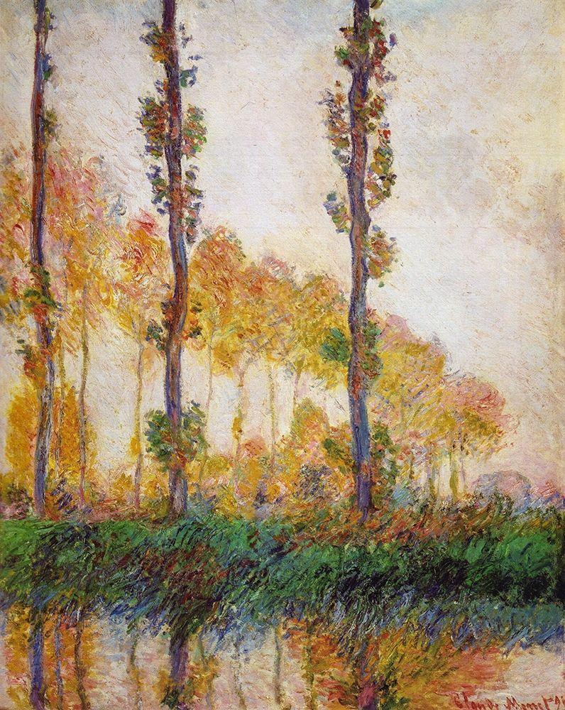 konfigurieren des Kunstdrucks in Wunschgröße Poplars (Autumn) von Monet, Claude