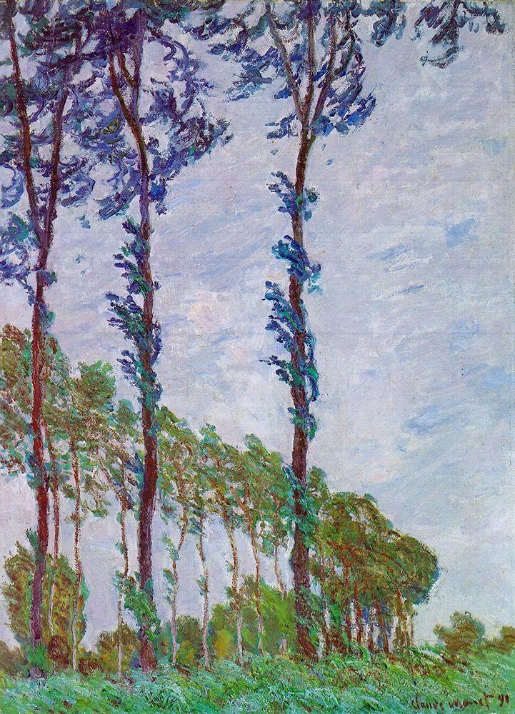 konfigurieren des Kunstdrucks in Wunschgröße Poplars (Wind effect) von Monet, Claude