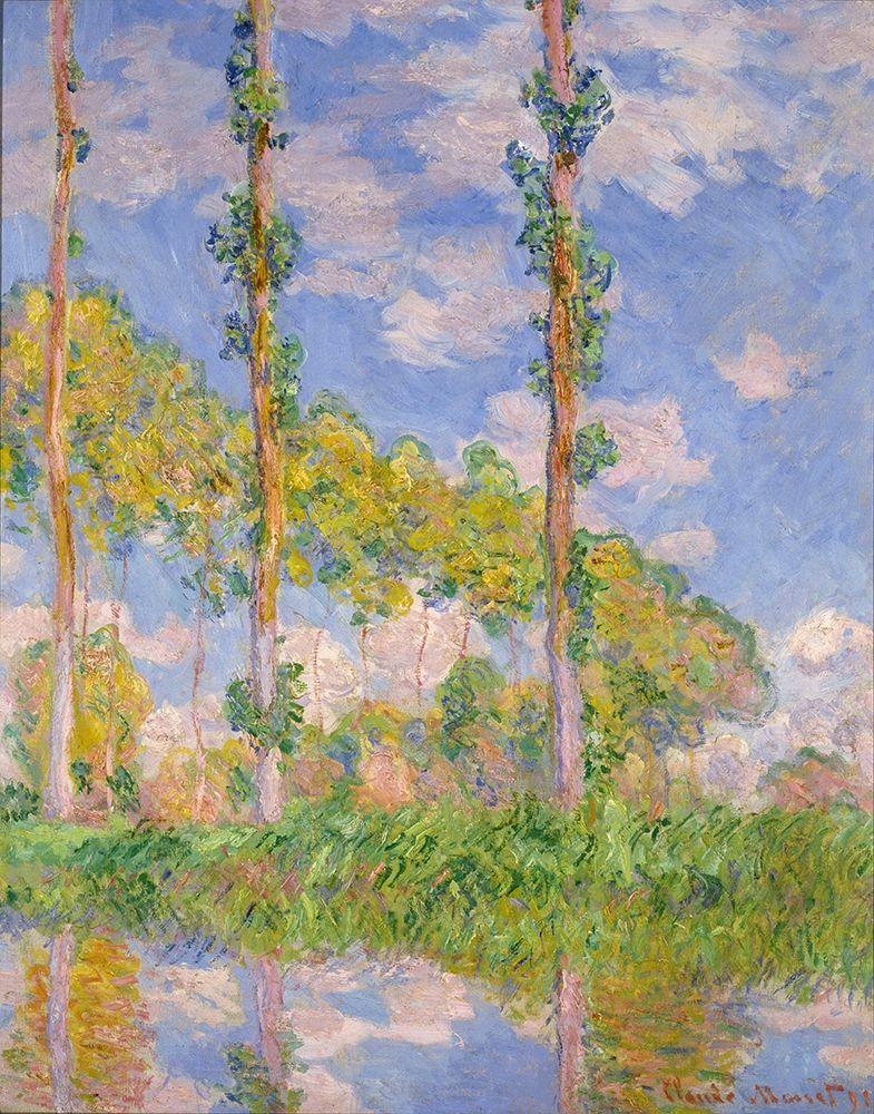 konfigurieren des Kunstdrucks in Wunschgröße Poplars in the sun von Monet, Claude