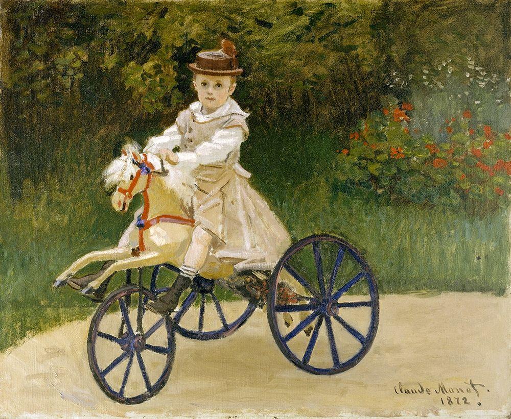 konfigurieren des Kunstdrucks in Wunschgröße Jean Monet on his Hobby Horse von Monet, Claude