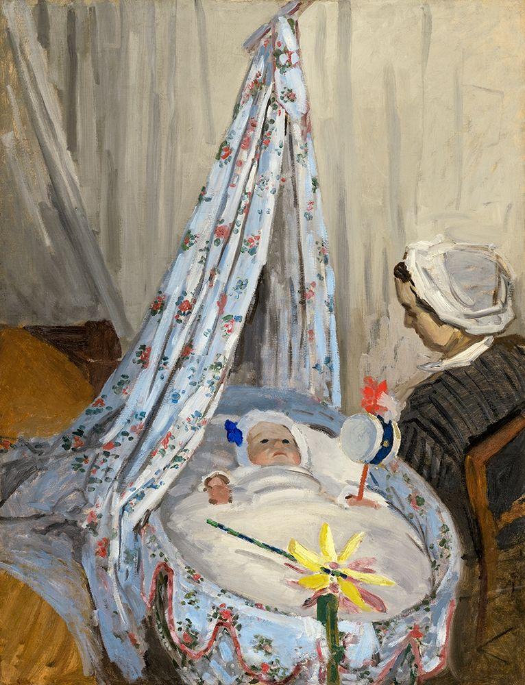 konfigurieren des Kunstdrucks in Wunschgröße Jean Monet in the cradle von Monet, Claude