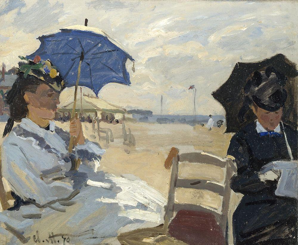konfigurieren des Kunstdrucks in Wunschgröße At the beach of Trouville von Monet, Claude