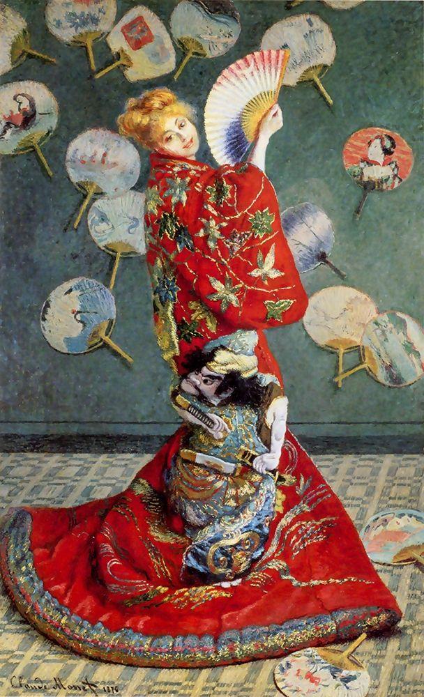 konfigurieren des Kunstdrucks in Wunschgröße Madame Monet in a Japanese costume von Monet, Claude