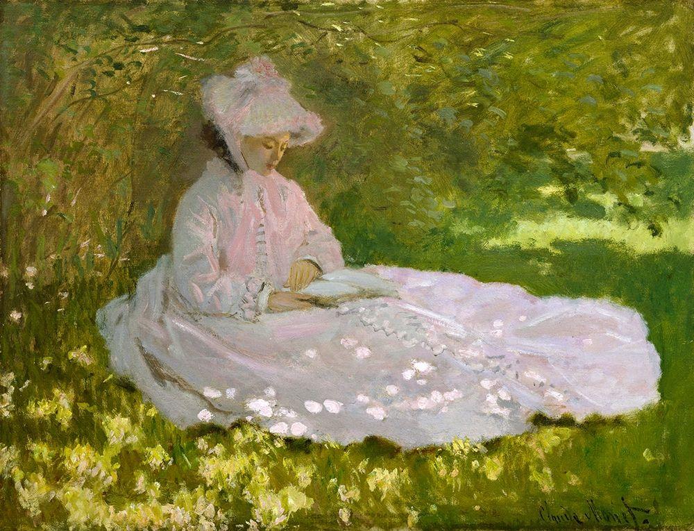 konfigurieren des Kunstdrucks in Wunschgröße Springtime von Monet, Claude
