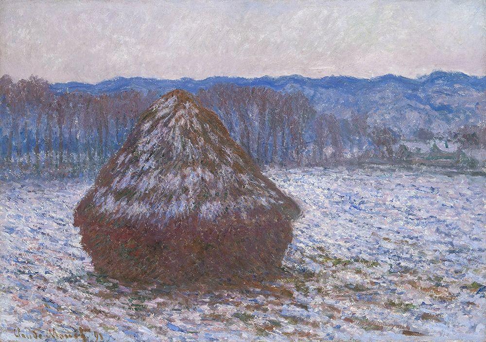konfigurieren des Kunstdrucks in Wunschgröße Stack of Wheat von Monet, Claude