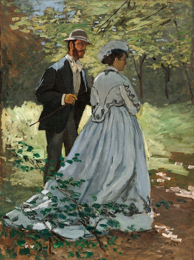 konfigurieren des Kunstdrucks in Wunschgröße Bazille and Camille von Monet, Claude