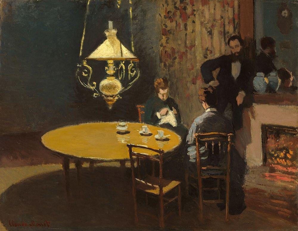 konfigurieren des Kunstdrucks in Wunschgröße Interior, after Dinner von Monet, Claude