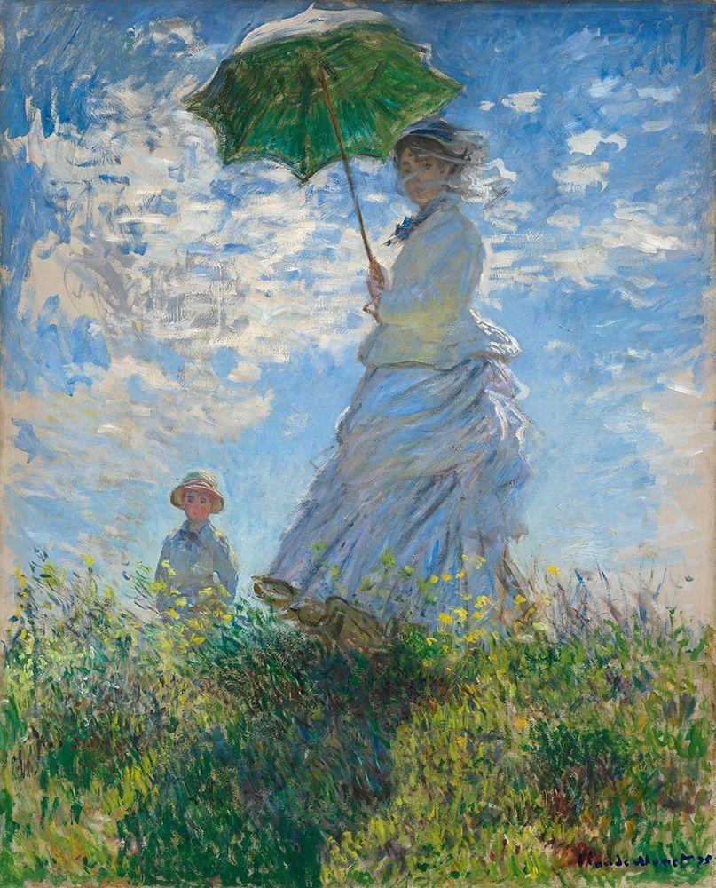 konfigurieren des Kunstdrucks in Wunschgröße Woman with a Parasol - Madame Monet and Her Son von Monet, Claude