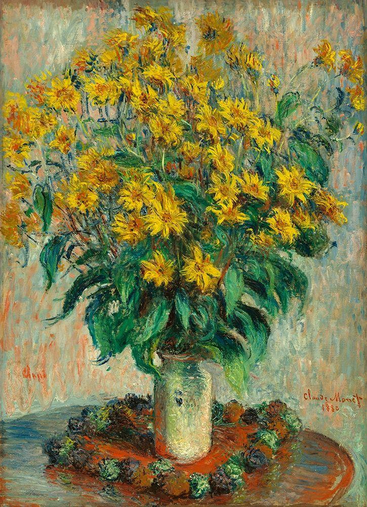konfigurieren des Kunstdrucks in Wunschgröße Jerusalem Artichoke Flowers von Monet, Claude