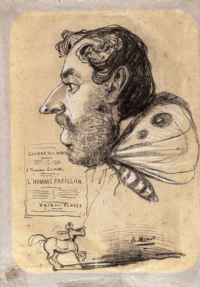 konfigurieren des Kunstdrucks in Wunschgröße Caricature of Jules Didier (ÔÇ£Butterfly ManÔÇØ) von Monet, Claude