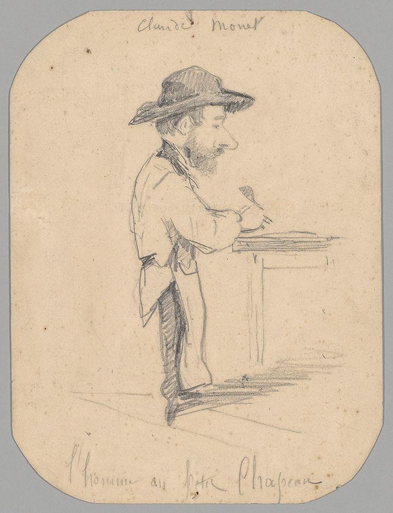 konfigurieren des Kunstdrucks in Wunschgröße Caricature of a Man in the Small Hat von Monet, Claude