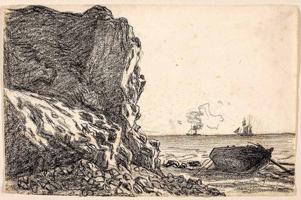 konfigurieren des Kunstdrucks in Wunschgröße Cliffs and Sea, Sainte-Adresse von Monet, Claude