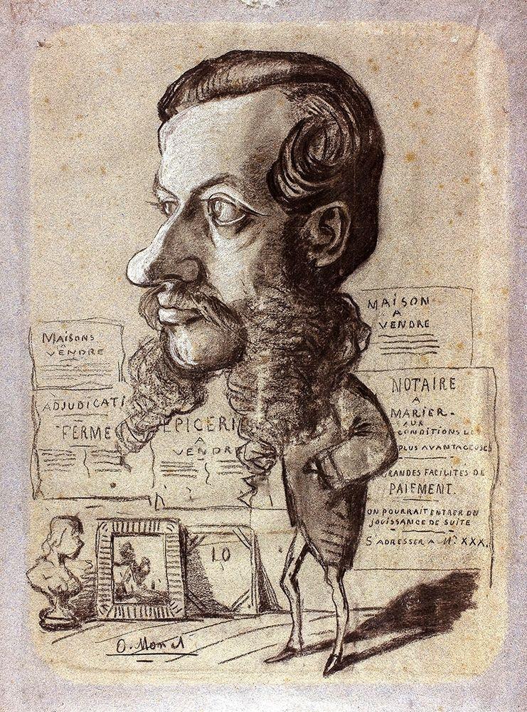 konfigurieren des Kunstdrucks in Wunschgröße Caricature of L├®on Manchon von Monet, Claude