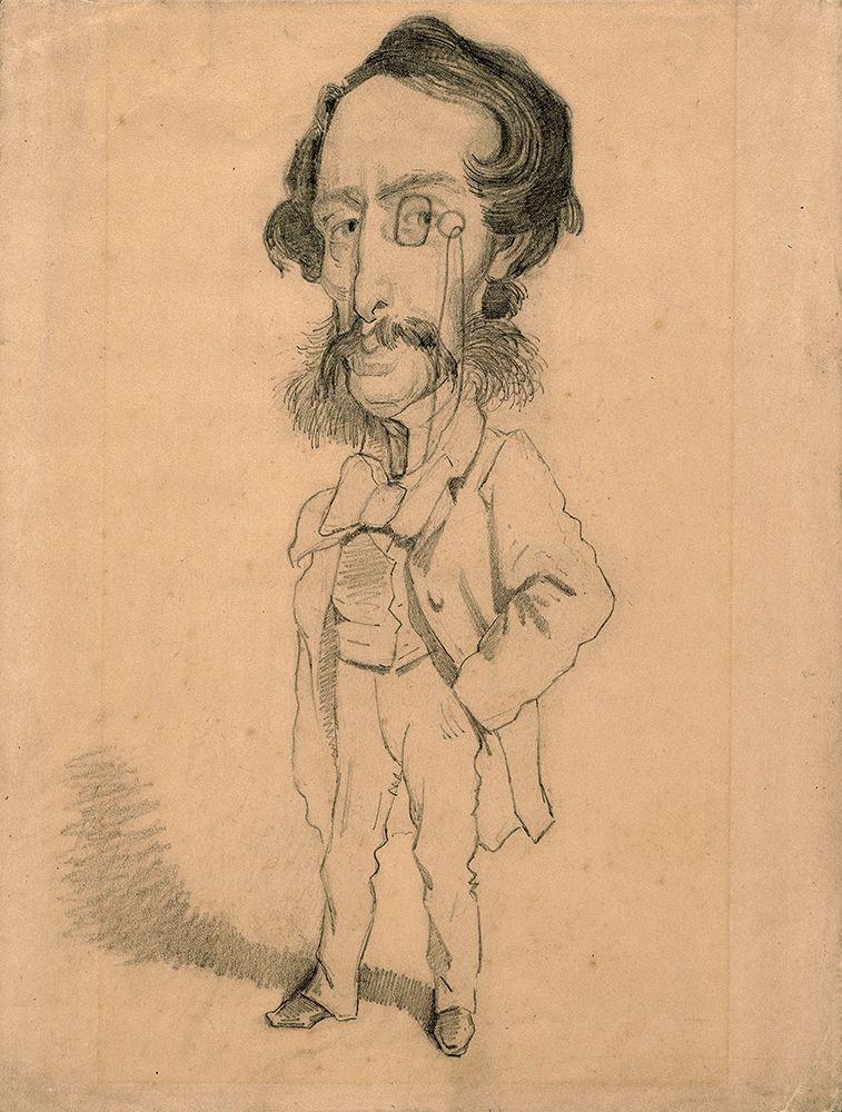 konfigurieren des Kunstdrucks in Wunschgröße Caricature of Mario Uchard von Monet, Claude
