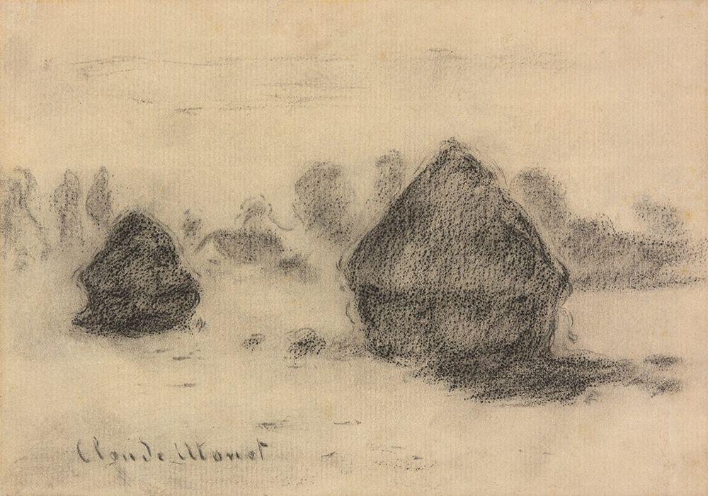konfigurieren des Kunstdrucks in Wunschgröße Stacks of Wheat von Monet, Claude