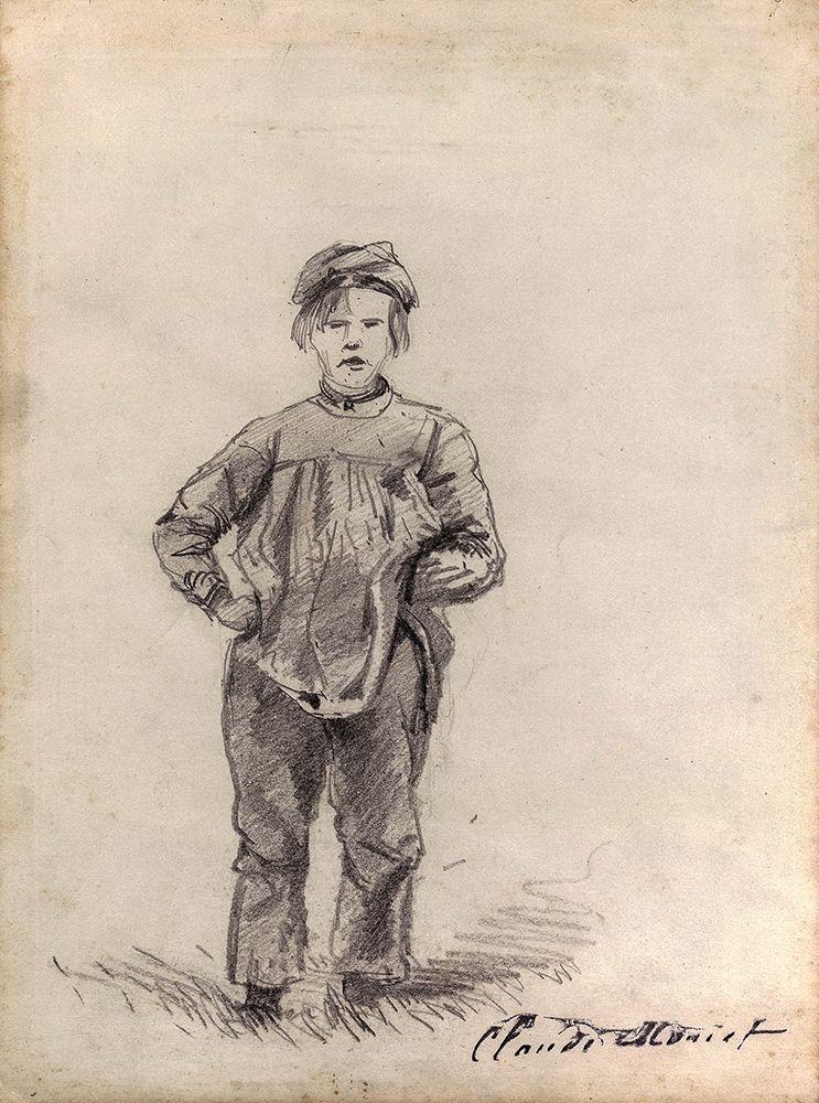 konfigurieren des Kunstdrucks in Wunschgröße Boy in the Country von Monet, Claude