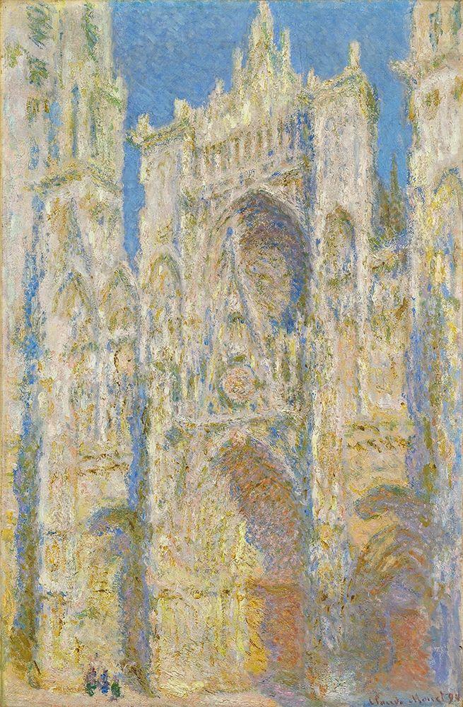 konfigurieren des Kunstdrucks in Wunschgröße Rouen Cathedral, West Fa├ºade, Sunlight von Monet, Claude