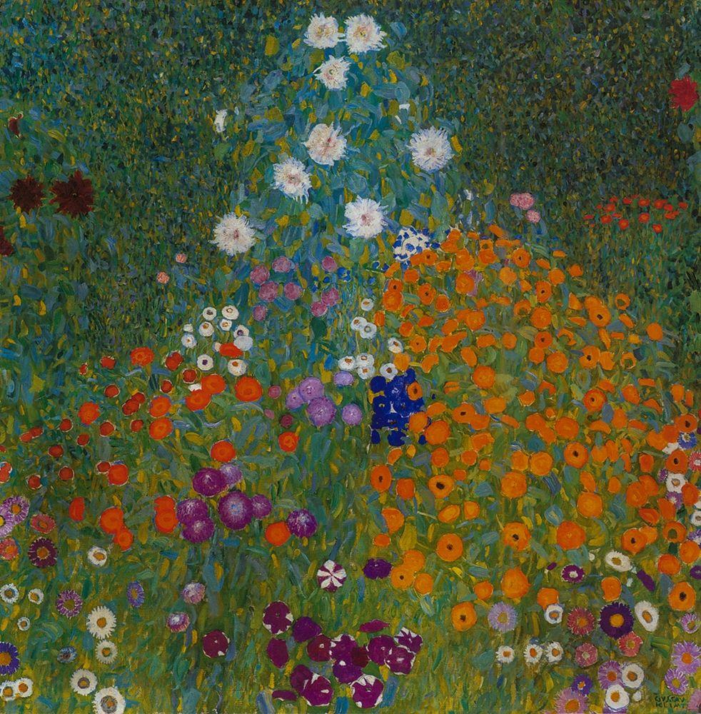 konfigurieren des Kunstdrucks in Wunschgröße Farmers Garden von Klimt, Gustav