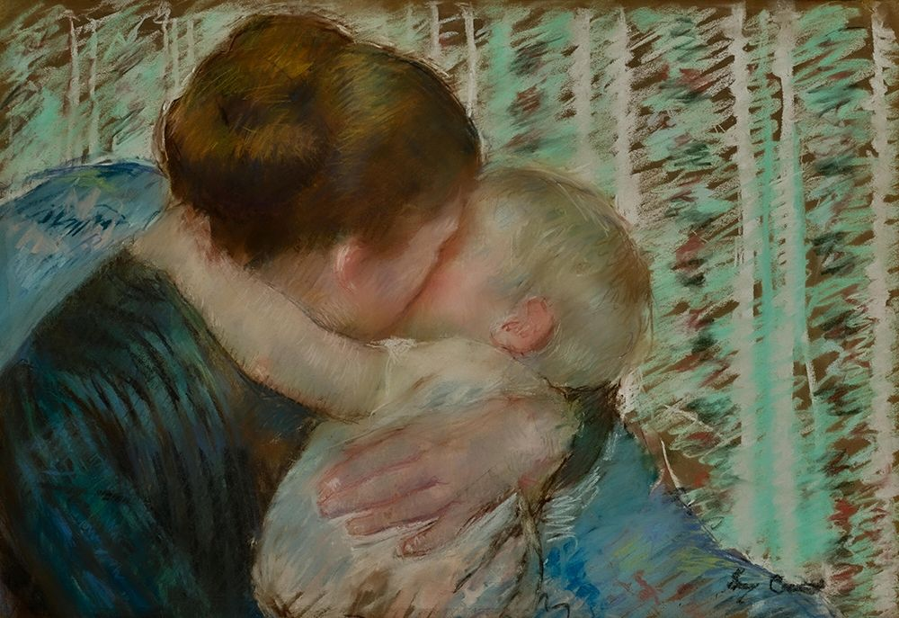 konfigurieren des Kunstdrucks in Wunschgröße A Goodnight Hug von Cassatt, Mary
