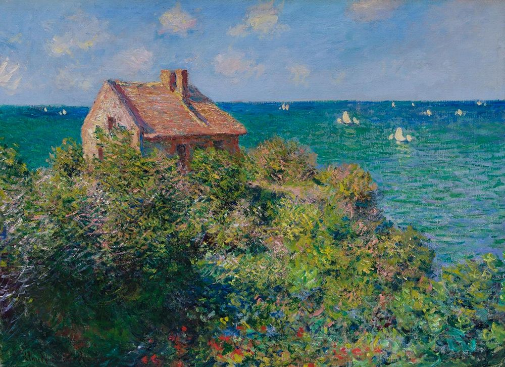 konfigurieren des Kunstdrucks in Wunschgröße Fishermans Cottage von Monet, Claude