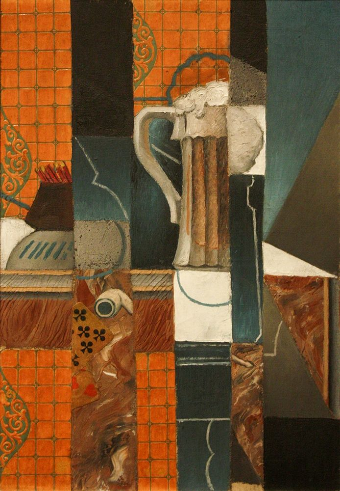 konfigurieren des Kunstdrucks in Wunschgröße Playing Cards and Glass of Beer von Gris, Juan