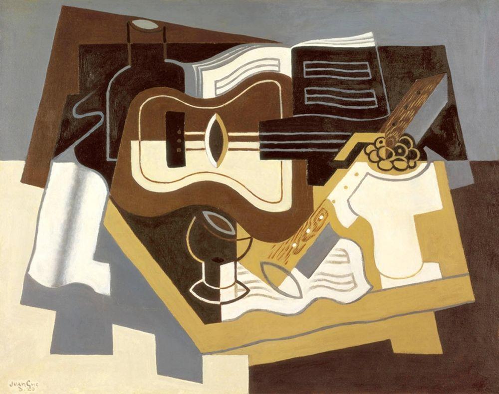 konfigurieren des Kunstdrucks in Wunschgröße Guitar with Clarinet von Gris, Juan