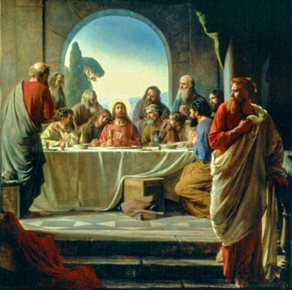 konfigurieren des Kunstdrucks in Wunschgröße The Last Supper von Bloch, Carl
