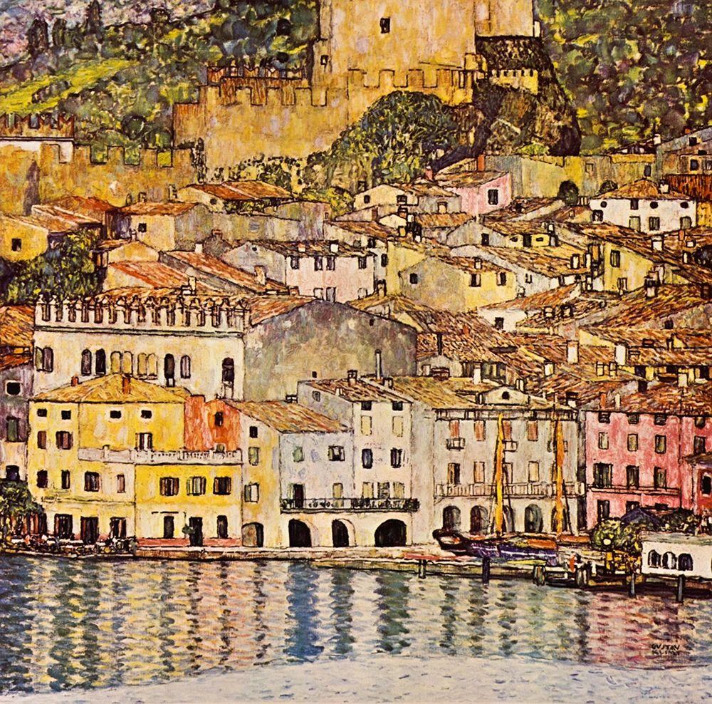 konfigurieren des Kunstdrucks in Wunschgröße Malcesine On Lake Garda 1913 von Klimt, Gustav